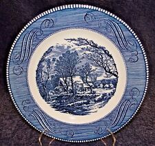 "Currier Ives Royal China Old Grist Mill Dinner Plate 10"" EXCELLENT"