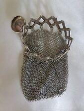Anhänger Tasche 800 Silber Antik Silver Pendant Bag Antique