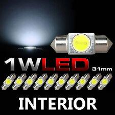 10x LED White Bright Festoon DE3175 3022 3021 Dome Map Interior Light Lamp