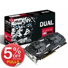 RX 580 ASUS Gaming Graphics Card Mining AMD Radeon RX580 Dual 4GB OC GDDR5 HDMI