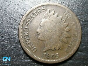 1866 Indian Head Cent Penny  --  MAKE US AN OFFER!  #B9380