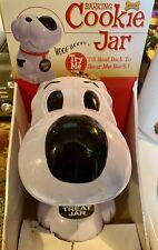 "Barking Dog Cookie Treat 10"" Plastic Jar Wolf Wolf Barks When Tilt Head Back!"
