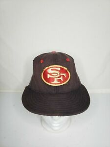 Vintage 90s San Francisco 49ers New Era Pro Model Fitted 6 7/8 Hat Cap NFL Youth