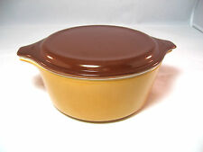 Pyrex Gold Baking Dish 472 with Brown Lid 20-C16 1.5 Pint
