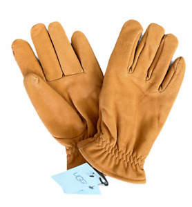 New Men's Ugg Faux Fur-Lined Suede Gloves [11160] Timber Size Large L NWT $95 ⭐️