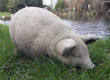 STONE GARDEN PIG / PIGLET STATUE FIGURE ORNAMENT