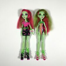 Monster High Lot of 2 Venus McFlytrap Beach Beasties and Music Festival Dolls