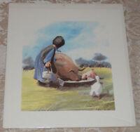 "1981 Amish Batiks ""Playmates"" Print by Vera Kirk Signed 60/560 NEW"
