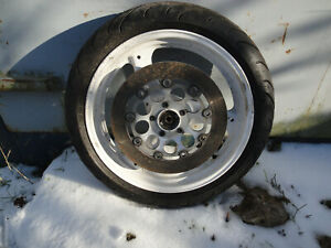 Front wheel & 120/70 x 17 tyre for a Suzuki GSX 750 F