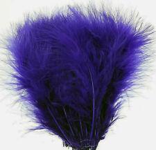 50 Dark Purple Turkey Good Blood Quill Marabou Feathers US Seller