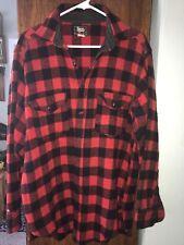 Vintage Woolrich Red Black Plaid Wool Shirt Mens Size 16 L