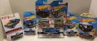 HOT WHEELS LOT OF 7. TRUCK LOVERS. TEAM TRANSPORTER INCLUDED. SEE DESCRIPTION.