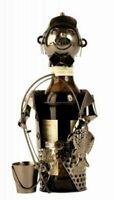 """Moderner Bier Flaschenhalter """" Angler """" aus Metall Art.: 3066"""