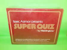 ISSAC ASIMOV Presents SUPER QUIZ By Waddingtons 1982 Sealed Trivia Boardgame!