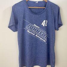 NASCAR Jimmie Johnson 48 Womens L T Shirt Blue Hendrick Motorsports Casual