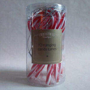 Vintage style Christmas tree 12 CANDY CANE ORNAMENTS decorations