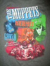 "MUPPETS SHOW ""CONCERT"" T SHIRT Electric Mayhem Gonzo Fozzie Bear Kermit Frog MED"