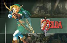 A4 Zelda Poster - (enlace De Juegos Xbox 360 Ps3 Wii Nintendo Ds Nes Snes Retro)