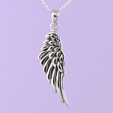 """925 Sterling Silber """"Angel Wing"""" 18""""/20"""" Anhänger a102"""