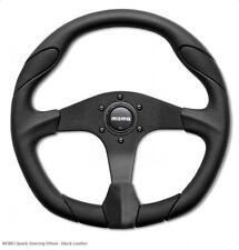 Momo Quark Car Steering Wheel 350mm Black with black centre