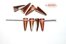 Spike beads, dornenperlen, 13 x 5 mm transversales taladrados, cobre 12 unidades de bacatus