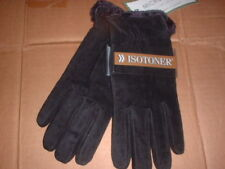 Womens Isotoner Gloves Microluxe Lining Black Large
