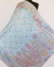 Large, Genuine Hand-Cut Kani Shawl. India, Pashmina Stole. Paisley Jamawar Wrap