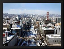 """SAPPORO JAPAN NEW A3 FRAMED PHOTOGRAPHIC PRINT POSTER 15.7"""" x 11.8"""""""