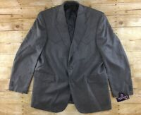 NWT Circle S Western Blazer Jacket 48L Gray 2 Button Polyester Cowboy Rodeo