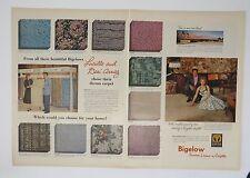 Original Print Ad 1955 BIGELOW Lucille Desi Arnaz 2 Page Dream Carpet