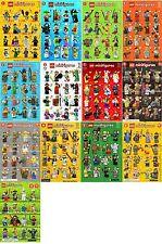 Lego minifigure series checklist all series 1-17 batman movie simpsons disney
