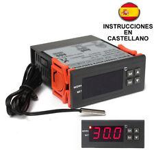 Termostato digital  12 v con sonda para incubadoras calefacción, etc