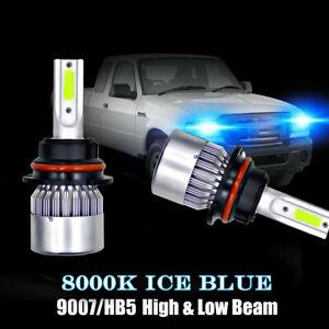 2PC 9007 LED Headlight Bulbs Kit for Ford Ranger 1993-2011 High Low Beam 8000K