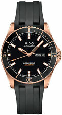Mido M0264303705100 Sapphire Crystal Ocean Star Watch Rose-Gold/Black