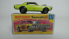 Matchbox Lesney _ MB62-B Mercury Cougar Dragster 1970 _ Nr. 62 Made in England