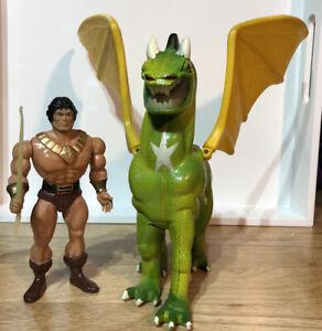 1983 Blackstar And Warlock Dragon Horse of Zangar Yellow Version Galoob!