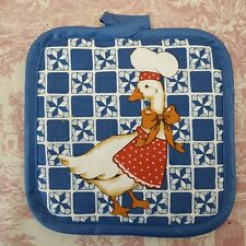 Hot Pad Pot Holder Blue Duck 7 x 7 One Pad