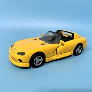 Vintage 1999 New Ray Dodge Viper RT/10 Yellow 1:32 Speedy Power Pull Back Car