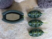 METHOD FEEDER SET 4 + 1 METHODS BAIT MOULD FUTTERKOB INLINE BLEI FUTTER 20g