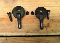 Vintage Original SINGER Treadle Sewing Machine SINGLE HOLE HINGES w Set Screws
