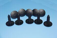 7-8 MM OPEL BLACK PLASTIC FIR TREE SID SKIRT PANEL DOOR BUMP SUPPORT CLIPS 10PCS