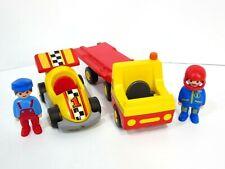 Playmobil 123 Speedteam Race Car Transporter Truck Complete Set 6761