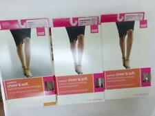New Lot of 3 Mediven Sheer Soft compression stockings Small 8-15 calf closed Toe