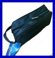 Mens Wash Bag Travel Toilet Bag Hanging Toiletries Bag Zipper Shower Large Black