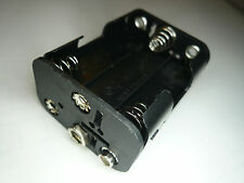 HR 1Pc Battery holder Back to Back 6 X AA/UM3 battery w/ 9V snap-on connector