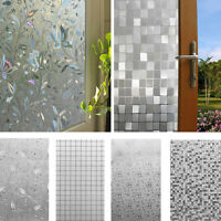 45x100cm 3D Static Cling Home Window Film Stained Glass Paper Frosted Decorative