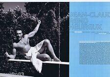 COUPURE DE PRESSE CLIPPING 2001 Jean-Claude Van Damme   (6 pages)