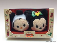 Disney Store Exclusive Mickey & Minnie Mouse Christmas Mini Tsum Tsum Plush Set
