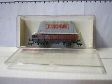Fleischmann HO 5200 Niederbordwagen 461024X05 DB + Plane (AA/269-4S3/3)