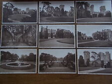 Collection 9 postcards Warwick Castle Warwickshire B/W Real Photo J Salmon Ltd